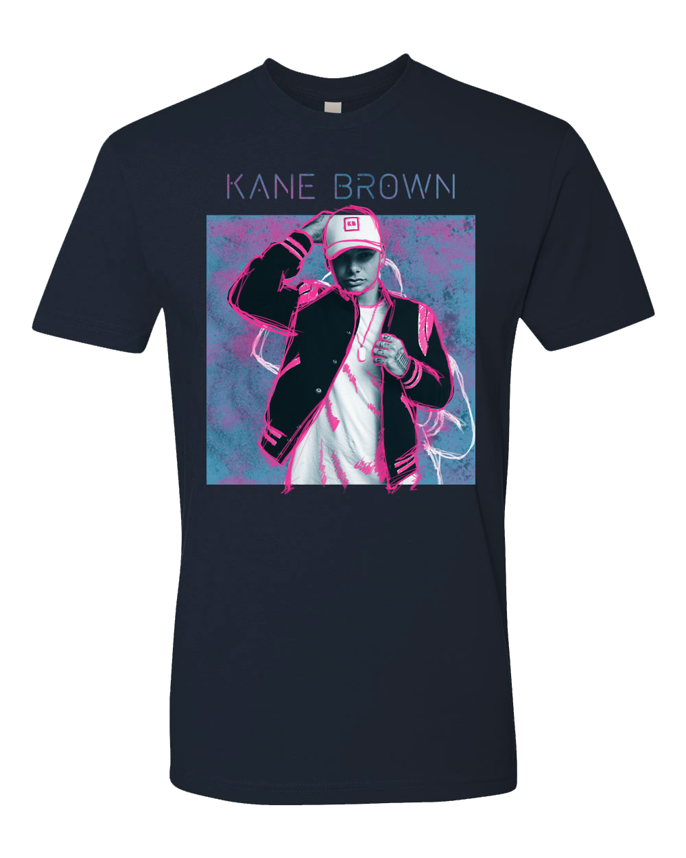 Live Forever Tour Tee - Navy & Neon