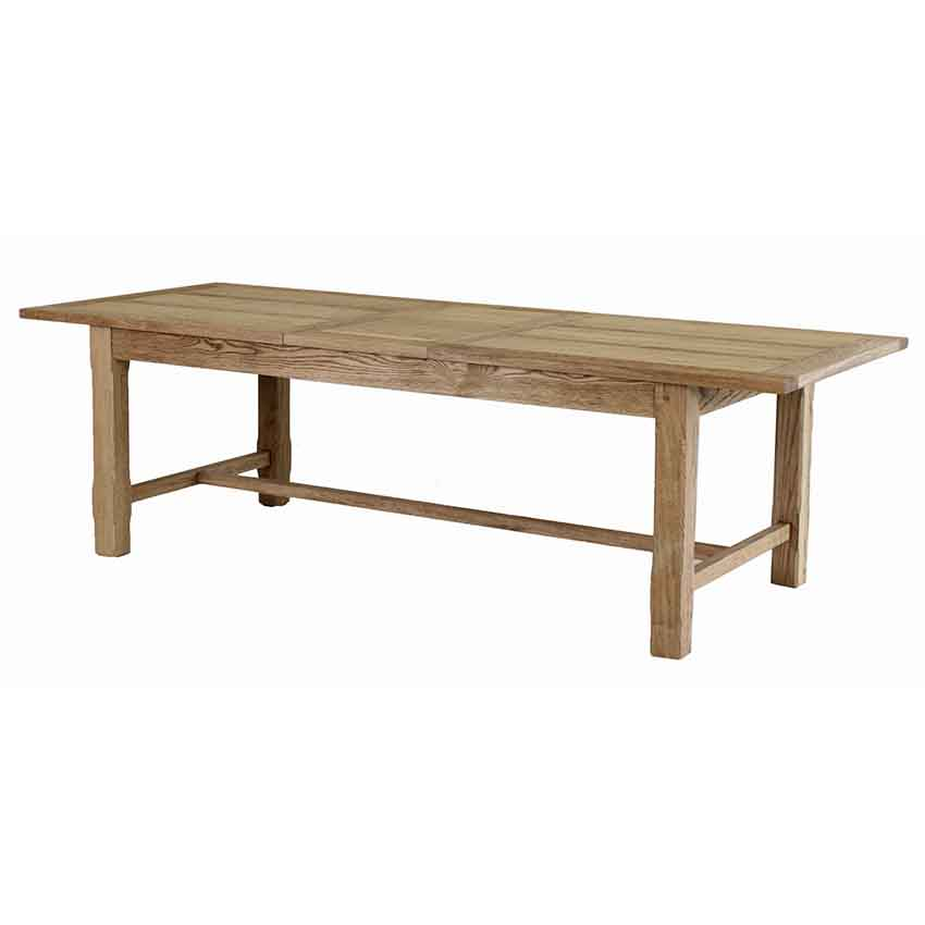 Francis American Oak Extension Table - Bar leg