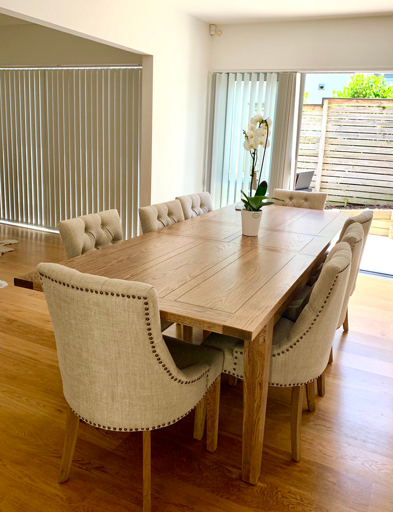 Natural Finish with Como Chairs