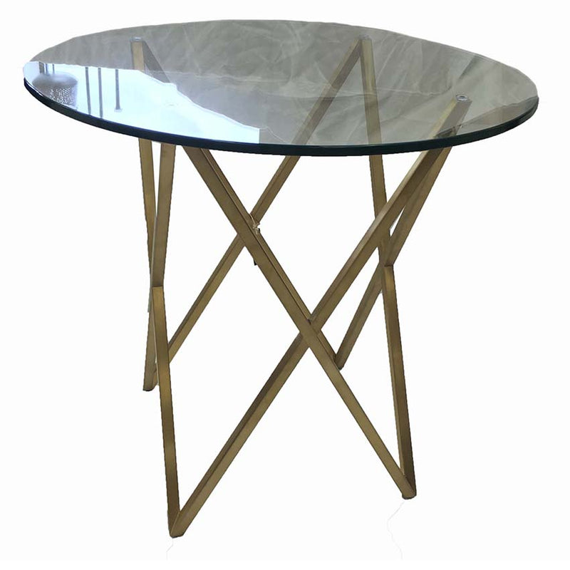 Roma Gold Glass Side Table