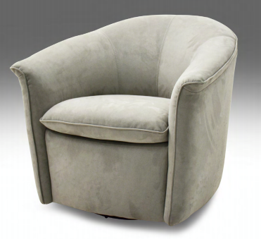 Shellby Occasional Swivel Chair - Leather