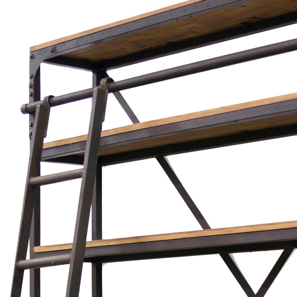Industrial Bookcase With Ladder Urban Beach