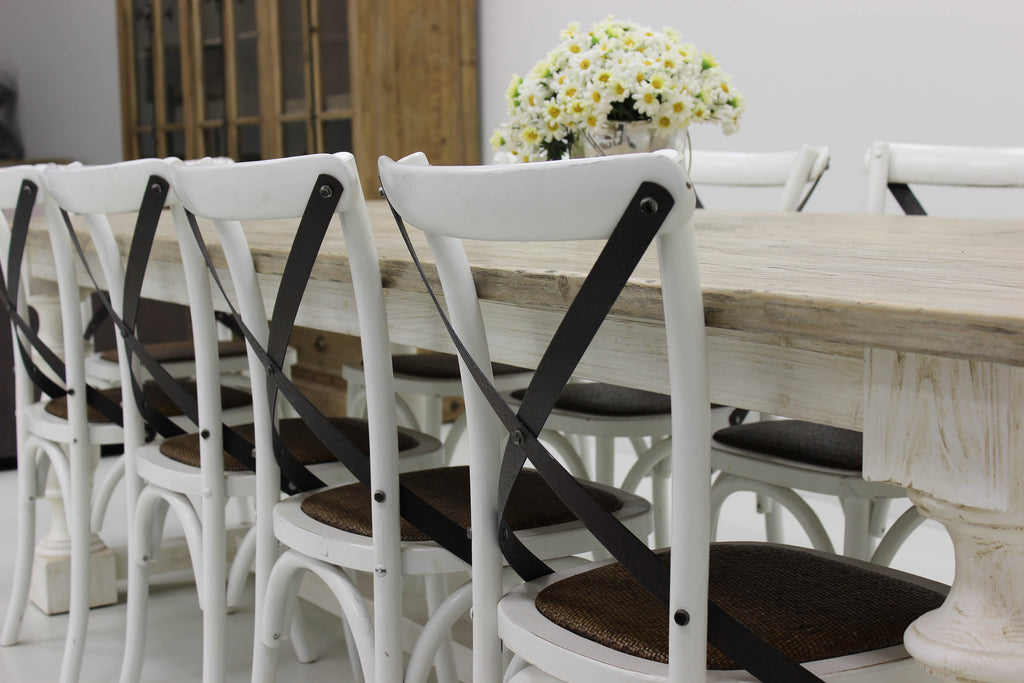 Cafe Dining Chair - Antique white