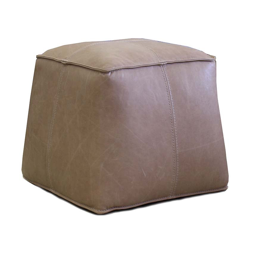 Joe Leather Footstool