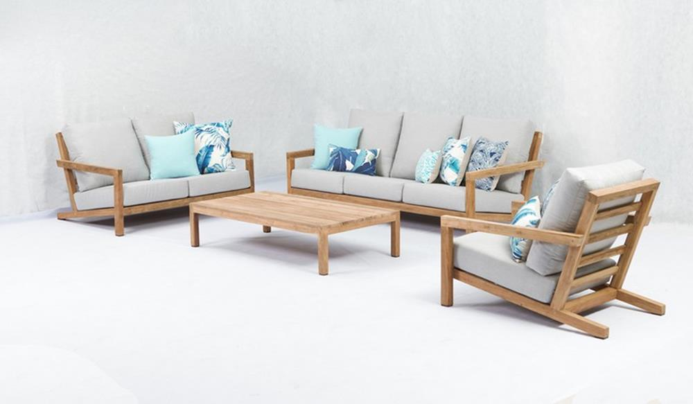 Block Teak Outdoor Sofa Collection