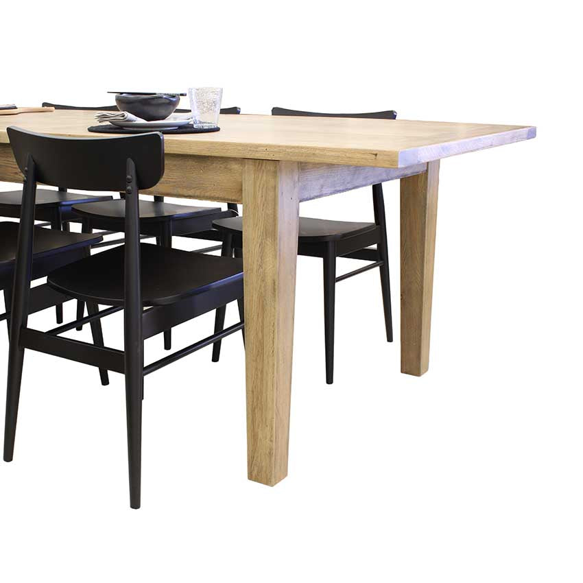 Francis American Oak Extension Table - Modern Leg