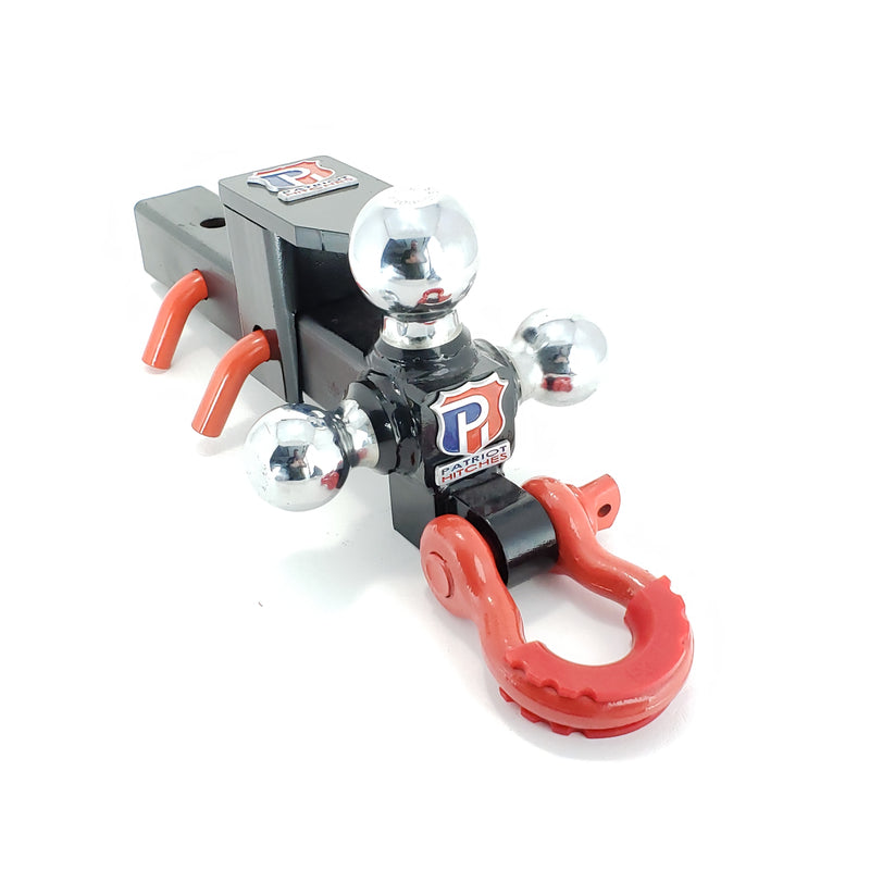 Patriot Hitches The Captain 5 in 1 Pintle D-Ring Shackle 3 Ball Mount