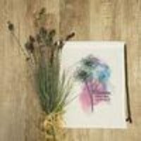 Watercolor Bloom where you were planted Cinch Sack