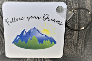 Just Breathe Key Chain