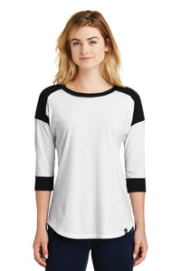 LNEA104 - Ladies New Era Heritage Blend 3/4 Sleeve Baseball Raglan Tee