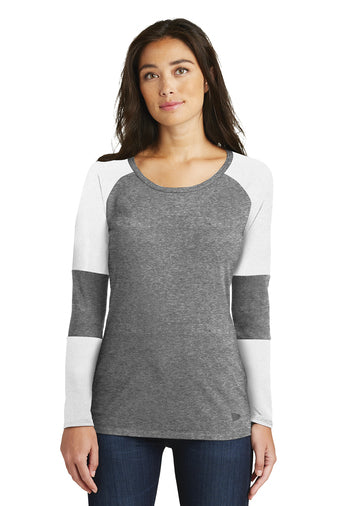 LNEA132 - Ladies New Era Tri Blend Performance Baseball Tee