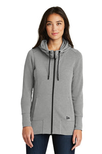 LNEA511 - Ladies New Era Tri Blend Fleece Full Zip Hoodie