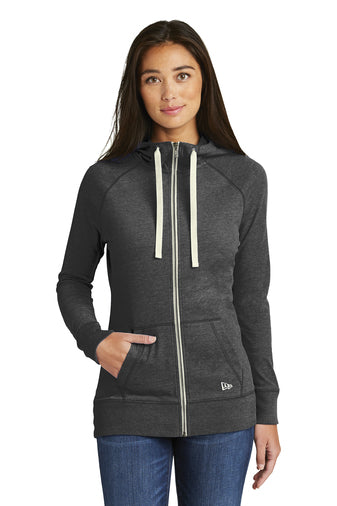 LNEA122 - Ladies New Era Sueded Cotton Full Zip Hoodie