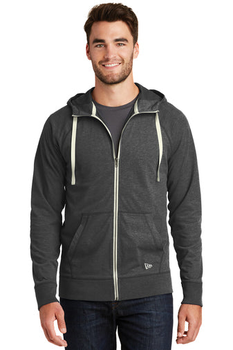 NEA122 - New Era Sueded Cotton Full-Zip Hoodie