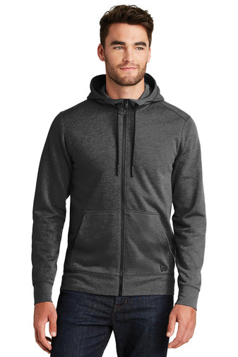 NEA511 - Tri Blend Fleece Full Zip Hoodie