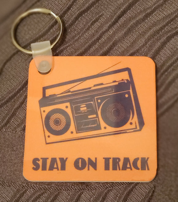 Stay on Track Keychain