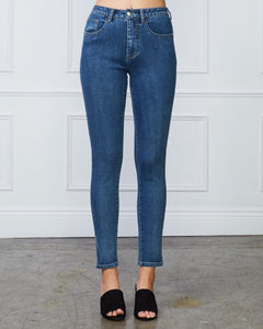 AUDREY HIGH RISE JEANS - BLUE WASH