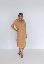 Load image into Gallery viewer, MELODY SHIRT DRESS - CAMEL