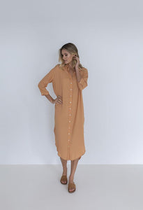 MELODY SHIRT DRESS - CAMEL