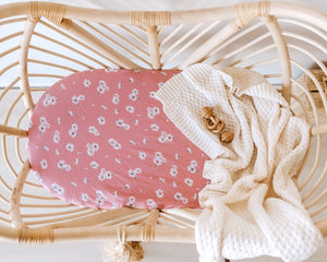 DAISY FITTED BASSINET SHEET/CHANGE PAD COVER