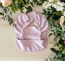 Load image into Gallery viewer, LAVENDER WATERPROOF FRILL SNUGGLE BIB