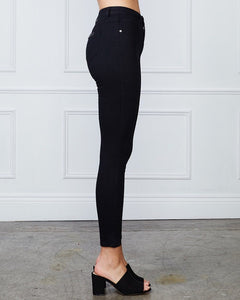 AUDREY HIGH RISE JEANS - BLACK