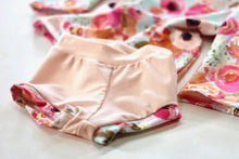Load image into Gallery viewer, PEACH FLORAL HANDMADE SWIM SET