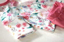 Load image into Gallery viewer, PINK FLORAL HANDMADE SWIM SET