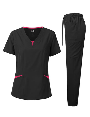 4-WAY STRETCH TWO TONE MEDICAL UNIFORM SET