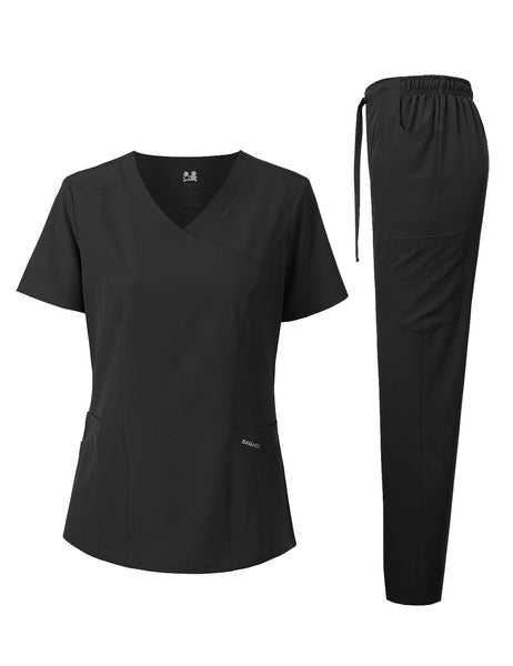 4-WAY STRETCH Y-NECK MEDICAL UNIFORM SET