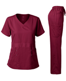 NATURAL STRETCH V-NECK SET