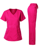 NATURAL STRETCH Y-NECK SET (FASHION COLORS)