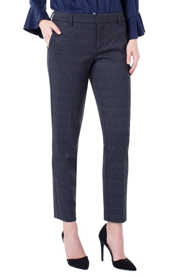 Liverpool Lm5084z76 Kelsey Plaid Knit Trousers Laura S Company