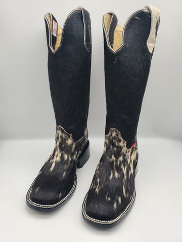Size 6 tall cowhide boots