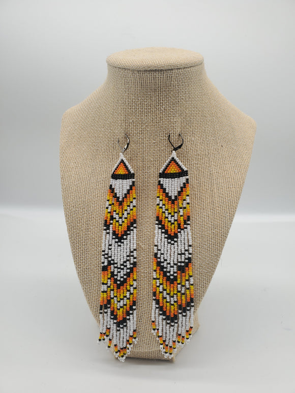 White Bomfire Earrings