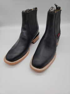 Size 8.5 black leather booties