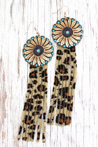 Sunflower Fringe Earrings