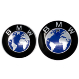 Blue Earth BMW Emblem Closeup