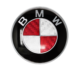 Red Carbon Fiber BMW Emblem Dimensions