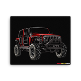 Jeep - Canvas Print