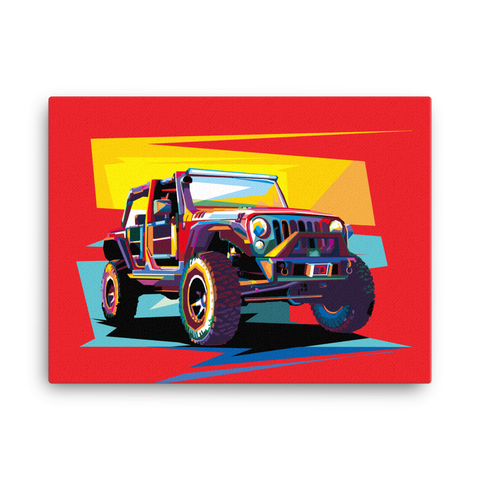 Jeep Art - Canvas Print