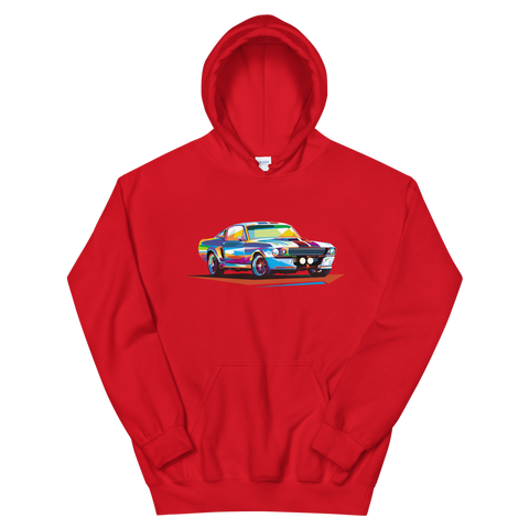 Pop Art Old School Muscle Car - Hoodie