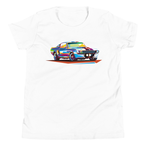 Pop Art Old School Muscle Car - Youth T-Shirt