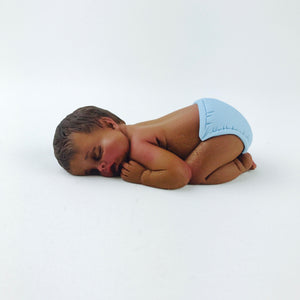 "Baby Boy Fondant CAKE Topper Large 4"" - Ships within 3 Business Days"