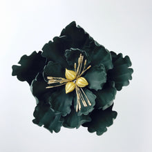 Extra Large Open Peony Sugar Flower in Black - Ships within 3 Business Days