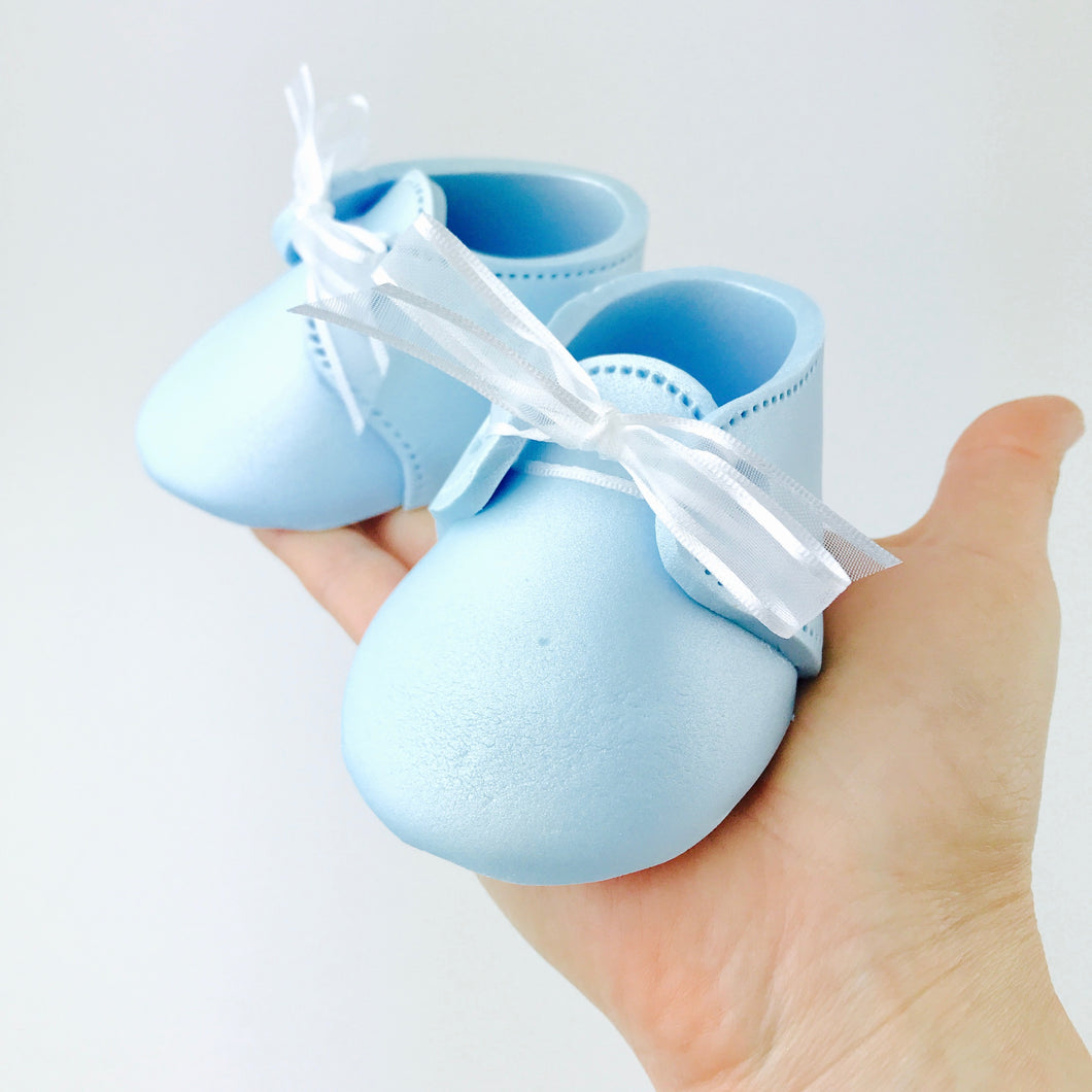 Baby Booties Fondant Cake Topper in Blue