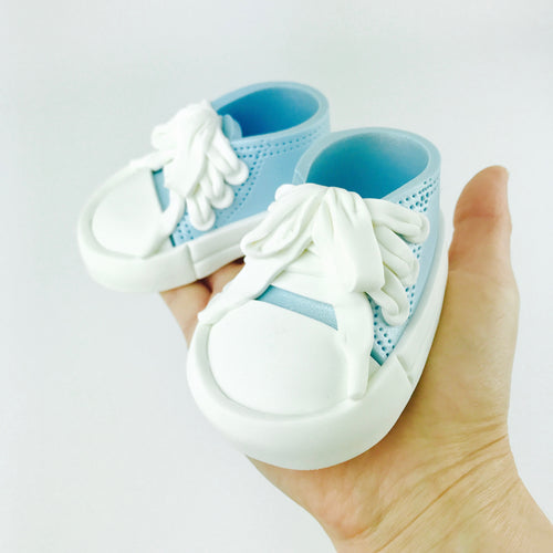 Baby Sneakers Shoes Cake Topper in Blue