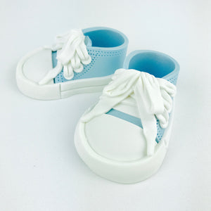 All Star Baby Shoes Cake Topper in Blue