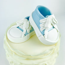 Blue Baby Boy Sneakers Shoes Cake Topper