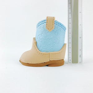 Cowboy boots fondant cake topper in Blue